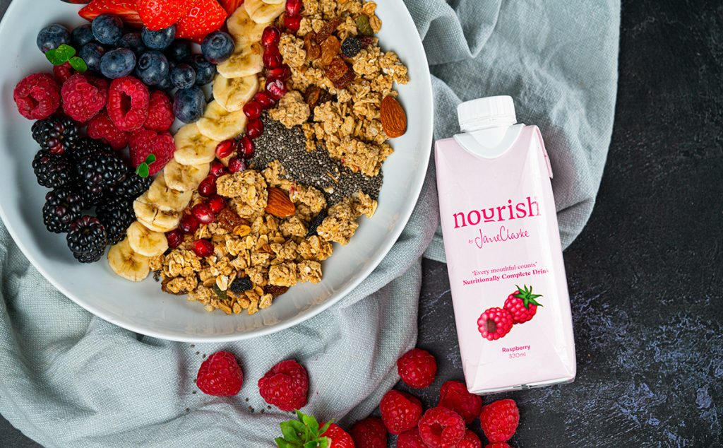 Nourish Drink carton importance of nutrition later life