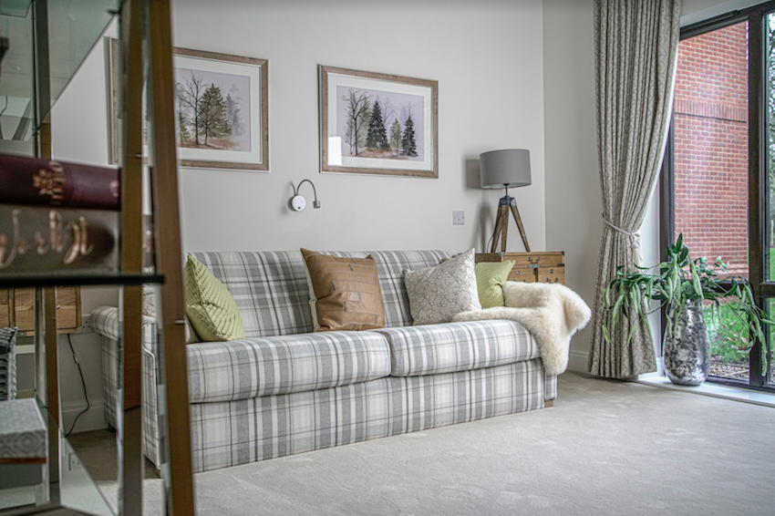 Extra Care Living: Lounge space in a retirement development
